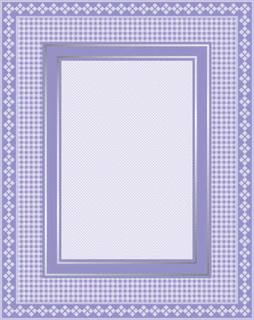 This is a illustration of an elegant lacy purple frame. Great boarder design. Great for stationary and scrapbooking.  Vector
