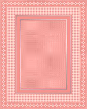 これは、エレガントなレースのピンクのフレームの図です。偉大なボーダー デザイン。文房具やスクラップブッ キングに最適です。