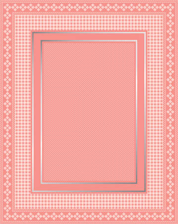 This is a illustration of an elegant lacy pink frame. Great boarder design. Great for stationary and scrapbooking.  Stock Vector - 12092684