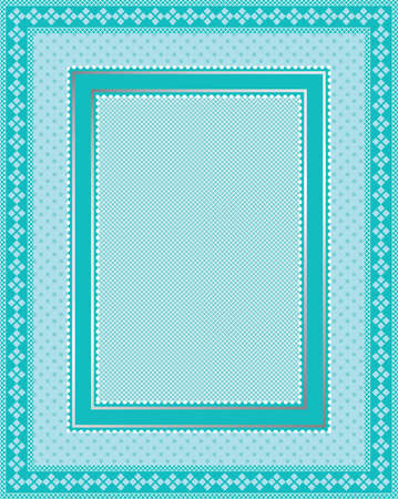 This is a illustration of an elegant lacy blue frame. Great boarder design. Great for stationary and scrapbooking.  Vector
