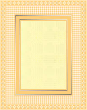 Dit is een illustratie van een elegante kanten geel kader. Grote grens design. Geweldig voor stationaire en scrapbooking.