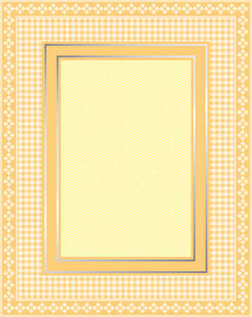 This is a illustration of an elegant lacy yellow frame. Great boarder design. Great for stationary and scrapbooking.  Vector