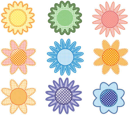 These illustrations are a fresh take on flower design. This collection of beautiful flowers is very unique and full of charm. Stock Vector - 6996043