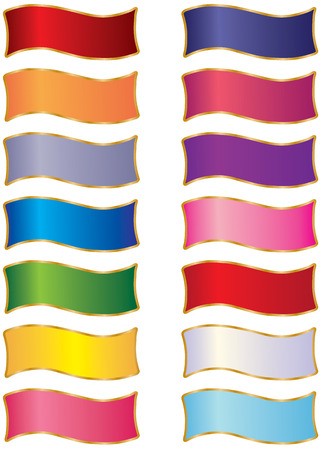 A beautiful collection of multicolored ribbons. A great design element. Stunning colors. Illustration