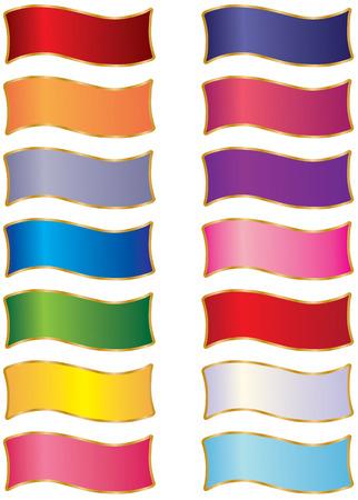 Een prachtige collectie van veelkleurige linten. Een geweldig design element. Verbluffende kleuren.  Stock Illustratie