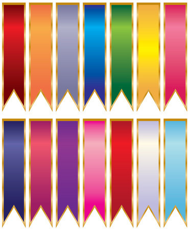A beautiful collection of multicolored ribbons. A great design element. Stunning colors. Stock Vector - 7516279