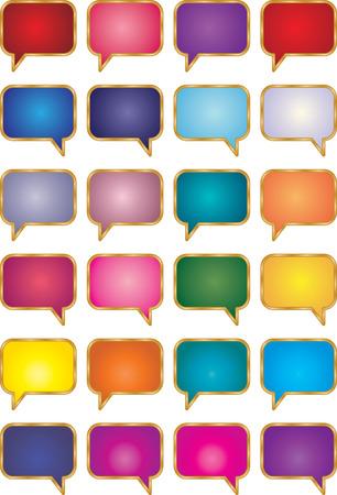 imaginary dialogue: Se trata de una colecci�n de las burbujas de la charla.