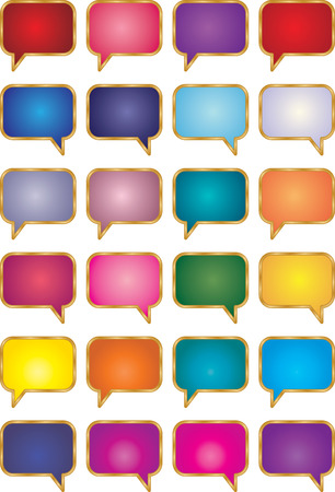 This is a  collection of talk bubbles. Stock Vector - 8491145