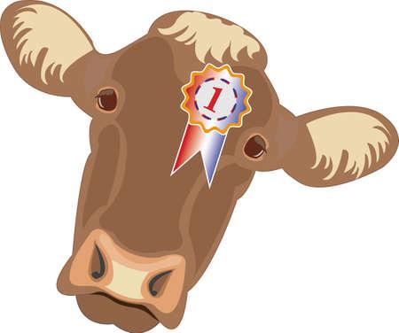 Prijs winnende koe