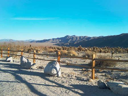 Deserted Desert Road photo