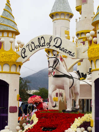 PASADENA, CA - JANUARY 1: A World of Dreams,  float sponsored by Honda participated at the 122nd Tournament of Roses Parade on January 1, 2011 in Pasadena, California.