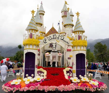 rose bowl parade: PASADENA, CA - JANUARY 1: A World of Dreams,  float sponsored by Honda participated at the 122nd Tournament of Roses Parade on January 1, 2011 in Pasadena, California. Editorial