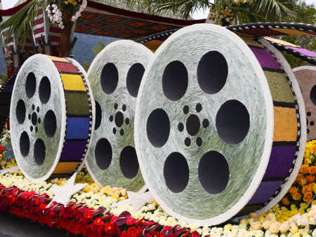 rose bowl parade: PASADENA, CA - JANUARY 1: The City of Los Angeles designed a float based on Cirque du Soleils new show IRIS at the 122nd Tournament of Roses Parade on January 1, 2011 in Pasadena, California. Editorial