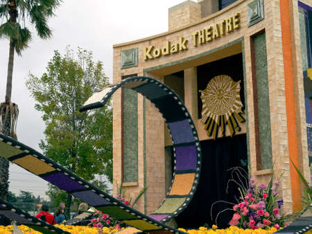 kodak: PASADENA, CA - JANUARY 1: The City of Los Angeles designed a float based on Cirque du Soleils new show IRIS at the 122nd Tournament of Roses Parade on January 1, 2011 in Pasadena, California. Editorial