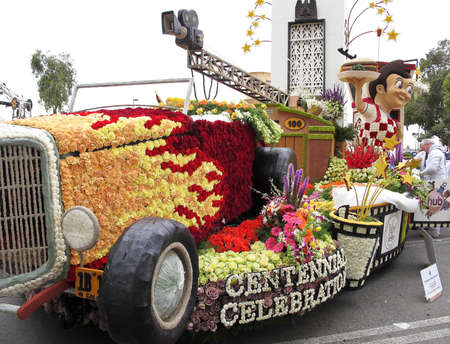 burbank: PASADENA, CA - JANUARY 1: The City of Burbank 2011 Rose Bowl Parade float  Editorial