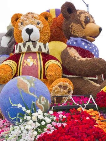 televised: PASADENA, CA - JANUARY 1: Rotary Rose Parade Committee designed  Editorial