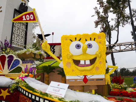 tournament of roses: PASADENA, CA - JANUARY 1: The City of Burbanks float was shown at the 122nd Tournament of Roses Parade on January 1, 2011 in Pasadena, California.