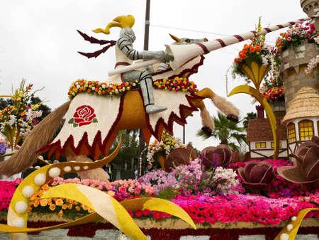 rose bowl parade: PASADENA, CA - JANUARY 1: The Bayer Advanced float themed  Editorial