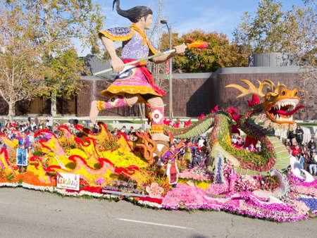 rose bowl parade: Pasadena, California, USA - January 1, 2010: The Tournament of Roses Parade was televised across the world. Editorial