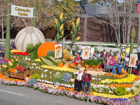 rose bowl parade:  Pasadena, California, USA - January 1, 2010: The Tournament of Roses Parade was televised across the world.