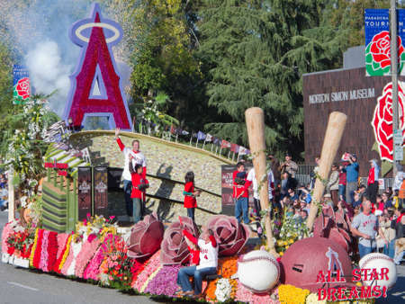 rose bowl parade: PASADENA, CA - JANUARY 1: The city of Anaheim participated in the 121th Tournament of Roses Parade on January 1, 2010 in Pasadena, California.