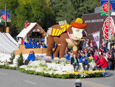 Pasadena, California, USA - January 1, 2010: The Tournament of Roses Parade was televised across the world.