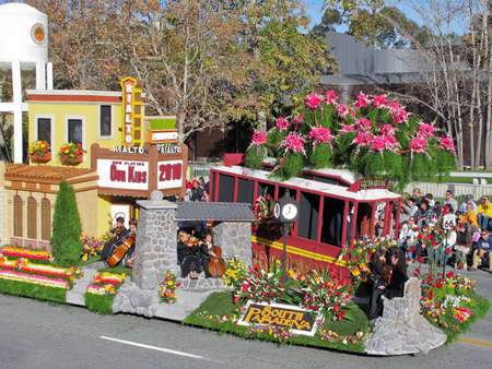 Pasadena, California, USA - January 1, 2010: The Tournament of Roses Parade was televised across the world. Editorial