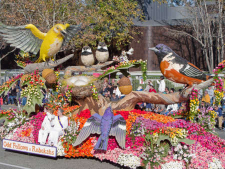 rose bowl parade: Pasadena, California, USA - January 1, 2010: The Tournament of Roses Parade was televised across the world. Editorial