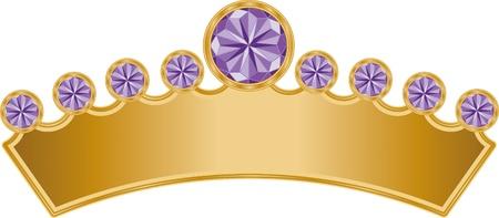 Dit is een illustratie van een Royal Crown met kostbare juwelen.