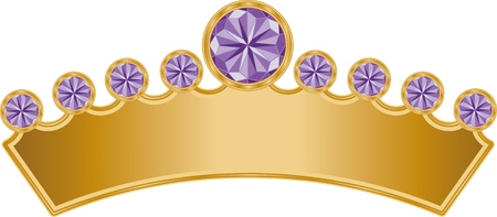 This is an illustration of a Royal Crown with precious jewels.