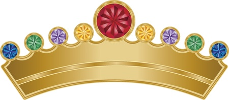 This is an illustration of a Royal Crown with precious jewels. Vector