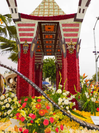 televised: PASADENA, CA - JANUARY 1, 2011: The City of Los Angeles designed a float based on Cirque du Soleils new show IRIS at the 122nd Tournament of Roses Parade