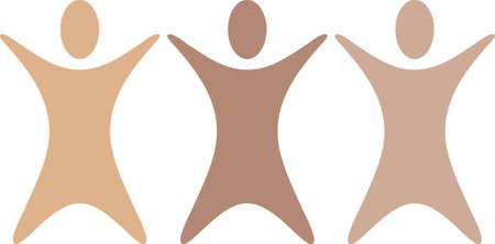 Este es un ejemplo del vector de tres personas abstractas. Foto de archivo - 11099069