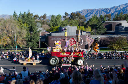Pasadena, California, USA - January 2, 2012: Trader Joes float called Hot Lava participated in the 123rd Tournament of Roses Parade. Stock Photo - 11748818