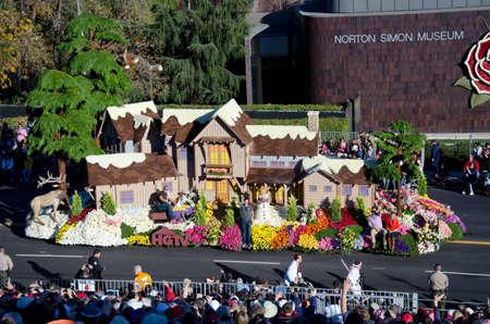 rose bowl parade: Pasadena, California, USA - January 2, 2012: HGTV Editorial