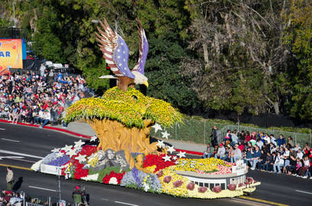 tournament of roses: Pasadena, California, USA - January 2, 2012: he Western Asset Float called: Imagine In America, participated in the 123rd Tournament of Roses Parade.