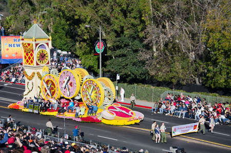 Pasadena, California, USA - January 2, 2012: The Donate Life float called One More Day participated in the 123rd Tournament of Roses Parade. Stock Photo - 11767650