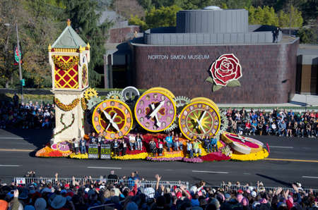 rose bowl parade: Pasadena, California, USA - January 2, 2012: The Donate Life float called One More Day participated in the 123rd Tournament of Roses Parade.