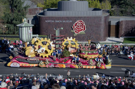tournament of roses: Pasadena, California, USA - January 2, 2012: Farmers Insurance Group Float called The Unimaginable, participated in the 123rd Tournament of Roses Parade.