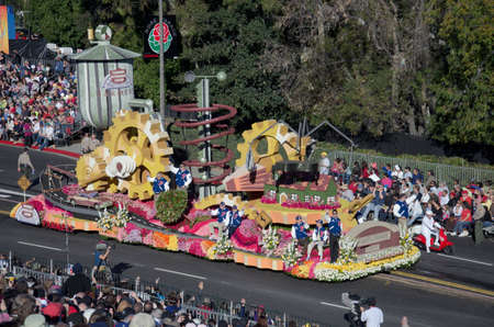 Pasadena, California, USA - January 2, 2012: Farmers Insurance Group Float called The Unimaginable, participated in the 123rd Tournament of Roses Parade. Stock Photo - 11767692