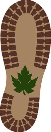 Sole of hiking shoe