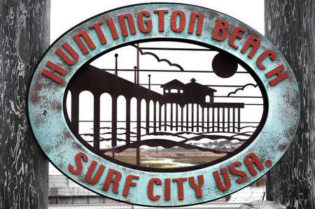 huntington beach: Historic Huntington Beach, CA Sign