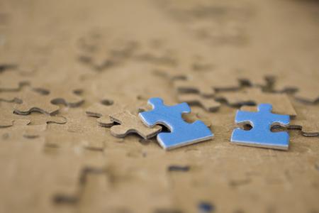 2 Blue Puzzle Pieces