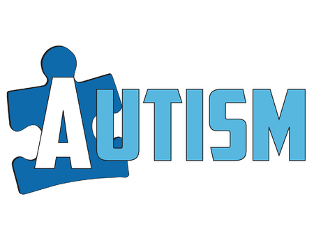 Autism signage  isolated on white background
