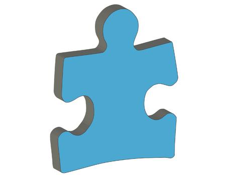 3D Puzzle Piece vector illustration