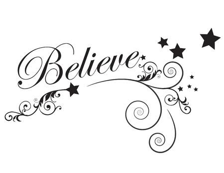 Believe Stock fotó - 95958194