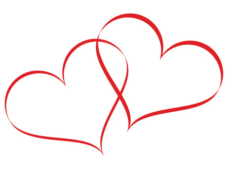 Linked hearts Illustration