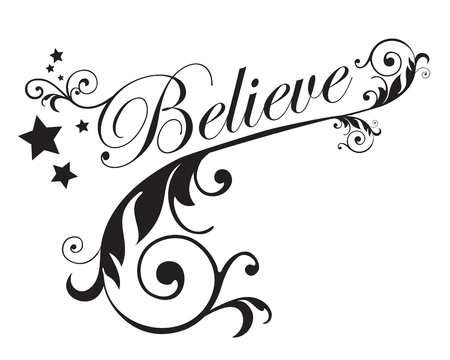 Believe with swirls