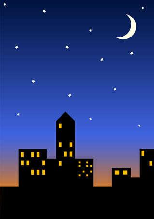 Cityscape at night Stock Photo - 255017