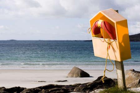 Life saver along the seashore. photo